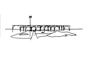 Esboço de Oscar Niemeyer